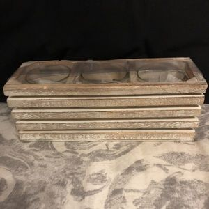 Three piece candle holder